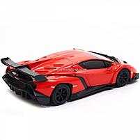 Машинка ігрова автопром «Lamborghini Veneno», 15 см, світло, звук, червоний (7601), фото 6