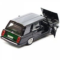 Машинка игровая автопром «ВАЗ-2104» Черный (свет, звук), 14х5х7 см (7505), фото 7
