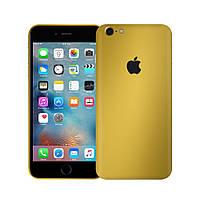 Защитная виниловая наклейка для iPhone 6s plus золотой матовый. Чехол для задней поверхности телефона