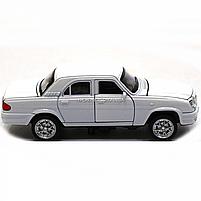 Машинка игровая автопром ГАЗ-31105 «Волга» белый (свет, звук, металл) 7506, фото 3