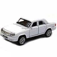 Машинка игровая автопром ГАЗ-31105 «Волга» белый (свет, звук, металл) 7506, фото 5