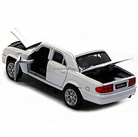 Машинка игровая автопром ГАЗ-31105 «Волга» белый (свет, звук, металл) 7506, фото 6