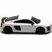 Машинка игровая автопром на радиоуправлении Audi R8 белый (8813), фото 5