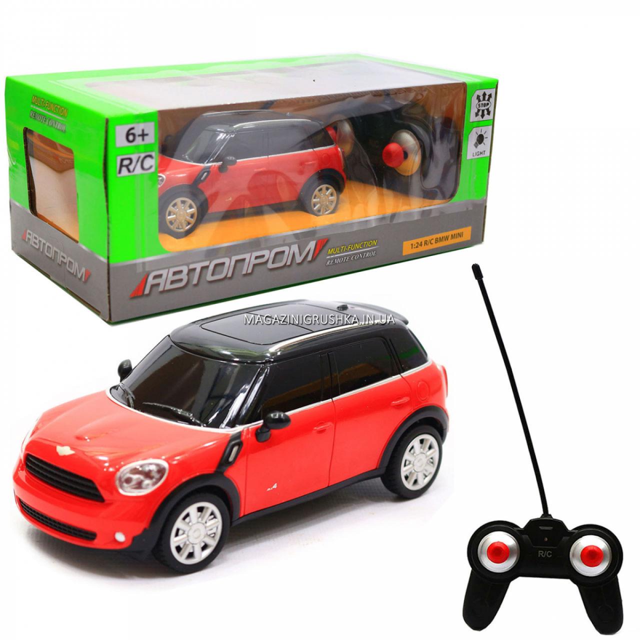 Машинка ігрова автопром на радіокеруванні BMW Mini червоний (8826)