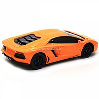 Машинка игровая автопром на радиоуправлении Lamborghini LP700 желтый (8809), фото 5