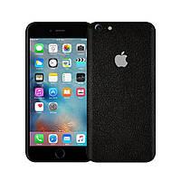 Защитная виниловая наклейка для iPhone 6s plus чёрный кожа. Чехол для задней поверхности телефона
