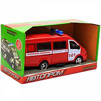 Машинка игрушечная автопром «Пожарная машина» (свет, звук, пластик), 20х7х10 см (7661-1), фото 2