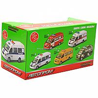 Машинка игрушечная автопром «Пожарная машина» (свет, звук, пластик), 20х7х10 см (7661-1), фото 3