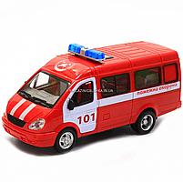 Машинка игрушечная автопром «Пожарная машина» (свет, звук, пластик), 20х7х10 см (7661-1), фото 4