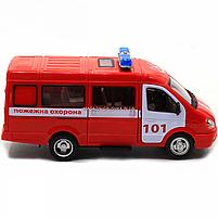 Машинка игрушечная автопром «Пожарная машина» (свет, звук, пластик), 20х7х10 см (7661-1), фото 5
