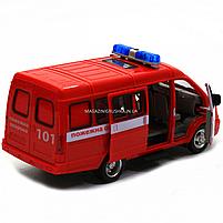 Машинка игрушечная автопром «Пожарная машина» (свет, звук, пластик), 20х7х10 см (7661-1), фото 6