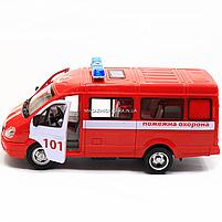 Машинка игрушечная автопром «Пожарная машина» (свет, звук, пластик), 20х7х10 см (7661-1), фото 7