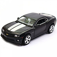 Машинка модель Автопром Chevrolet Самого (Шевроле Камаро) чорно-білий, 15 см (68335), фото 3