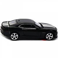 Машинка модель Автопром Chevrolet Самого (Шевроле Камаро) чорно-білий, 15 см (68335), фото 4