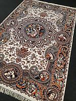 """Перський килим """"Велика Шахерезада"""" 2х3 метра в молочно-коричневій кольоровій гамі з візерунками"""