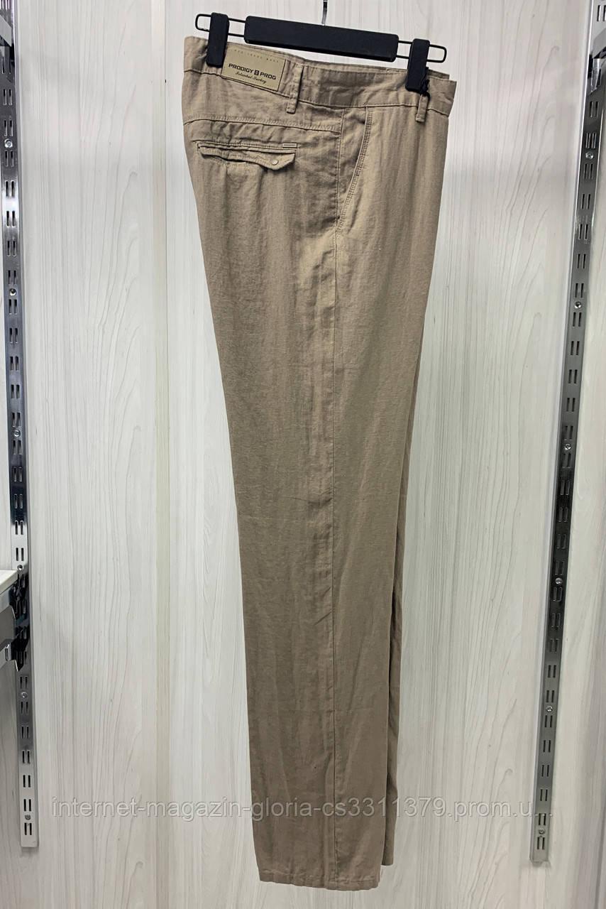 Мужские брюки Prodigy. Лён. (Linen 2046). Размеры: 34,35,36,37,38,40,42.