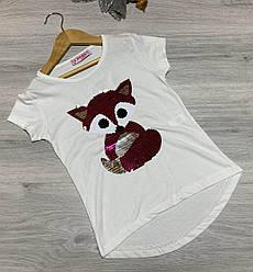 Детская футболка, трикотаж, для девочек с рисунком