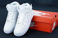 Кроссовки Nike Air Force 1 High White (Высокие белые Найк Аир Форс мужские и женские размеры 36-47) 44