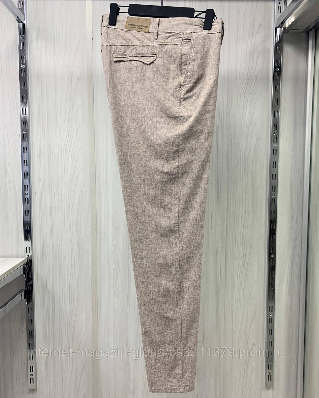 Мужские брюки Prodigy. Лён. (Linen 2060). Размеры: 33,34,35,36,38,40,42.