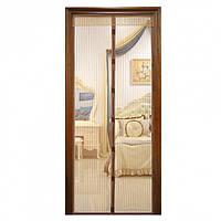 Москитная сетка на магнитах антимоскитная штора на дверь Magic Mesh