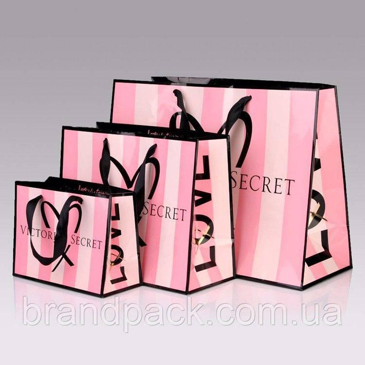 Пакет бумажный Victori's Secret средний (М)