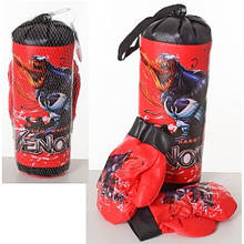 KMM6208 Боксерский набор M 6208  МГ, груша 30-11см, перчатки 2шт, в сетке, 30-15-11см