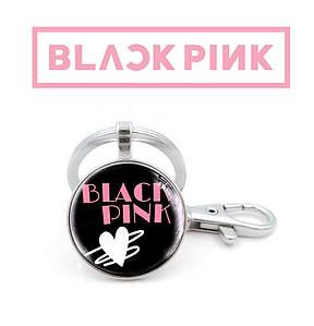 """Брелок K-Pop Black Pink """"Лого с сердцем"""""""