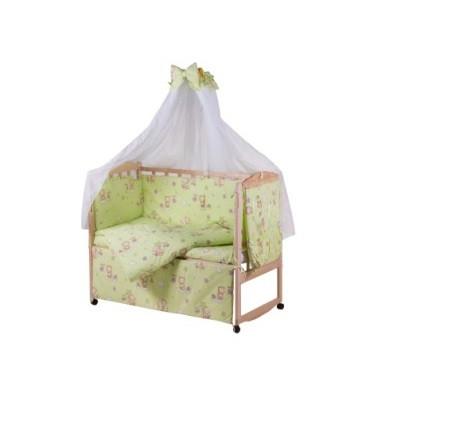 KM60363 Детская постель Qvatro Gold RG-08 рисунок салатовая (мишка, пчелка, звезда)