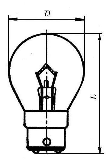 Лампа железнодорожная Ж54-25 B22d/25