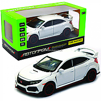 Машинка игровая автопром «Acura NSX» металл, 14 см, белая (свет, звук, двери открываются) 6606, фото 1