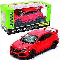Машинка игровая автопром «Acura NSX» металл, 14 см, красная (свет, звук, двери открываются) 6606, фото 1