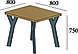Стіл обідній Уно 4 (стол обеденный) в стилі Лофт Loft, фото 2
