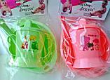 Набор детской посуды 4 предмета: поилочка, мисочка, ложечка и вилочка. , фото 2