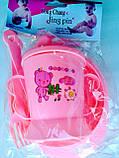 Набор детской посуды 4 предмета: поилочка, мисочка, ложечка и вилочка. , фото 4