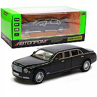 Машинка игровая автопром «Bentley Mulsanne» (Бентли) 20х7х6 см, Черный (7694), фото 1