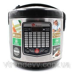 Мультиварка с фритюрницей и йогуртницей Domotec MS-7725  45 программ 5 л 900W Silver Steel