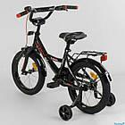 Детский двухколесный велосипед колеса 16 дюймов Corso CL-16 P 4482 черный, фото 3