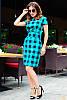Модное трендовое платье в клетку, фото 4