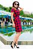 Модное трендовое платье в клетку, фото 5