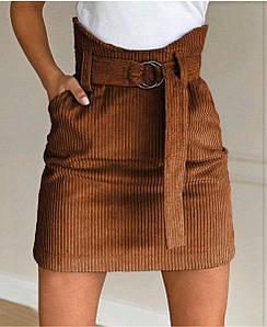 """Вельветовая юбка мини """"Fancy"""" , разные цвета"""