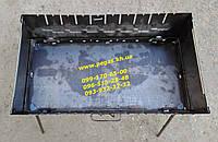 """Мангал чемодан металлический на 10 шампуров (""""2"""" мм)"""