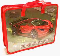 Папка-портфель на молнии с ткаными ручками для мальчика Drive 14006