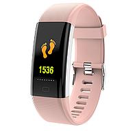 Умный фитнес браслет Lemfo F07 Plus с тонометром и влагозащитой (Розовый), фото 1