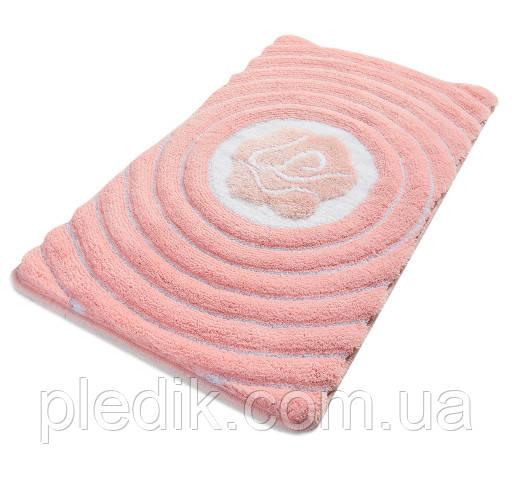 Коврик для ванной 60х100 Chilai Home розовый с люрексом Floria pembe (lurex)