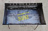Мангал чемодан металлический на 10 шампуров металл 2 мм, фото 4