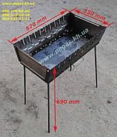 Мангал чемодан металлический на 10 шампуров металл 2 мм
