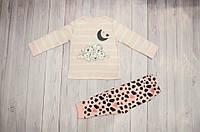 Пижама на девочку George Англия 100% хлопок 9-18 месяцев, 2-3 года с далматинцами розовая