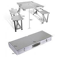 Складной алюминиевый стол для пикника со стульями Picnic Table