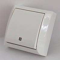 2202  LXL  TERRA  білий  Вимикач з підсвіткою