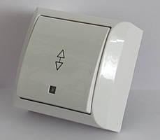 2206  LXL  TERRA  білий  Вимикач прохідний з підсвіткою